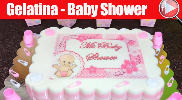 Gelatina Con Transfer De Baby Shower Para Niña